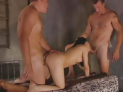 Luscious Victoria Sin enjoys a rough spit roasting