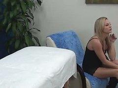 Hawt Blonde Massage Gal Fucks Client
