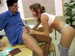 Teacher Shows his Big Jock to a Horny Teen Student