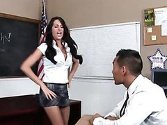 Teacher thinks it is time for his student to try a mature jock