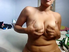 Cute obese girlfriend makes a porn tape for her boyfriend by dancing her curvy body around for the cam and playing with herself. She bends over to give a intimate look at her snatch and asshole.
