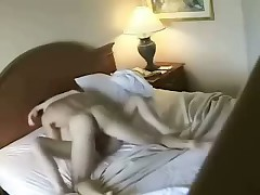 Lovely skinny blonde with wonderful forms fucks with her adorable man in hotel, choosing different poses to acquire abundant pleasure.