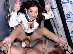 Hot a-hole Doctor Mother I'd Like To Fuck Francesca Le is giving some physical examinations. This concupiscent cougar Doc is hoping to break the rules and receive herself examined by one of her perverted patients. That Guy'll probe her trickling moist muff and check down her face hole to make sure anything is kosher. Dr. Le is about to receive a full blown physical. U can cough now Dr. Le...
