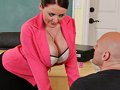 Johnny's new substitute teacher is one hot large-titted cutie... That Honey has Johnny daydreaming about a hawt fuck session in the class!!! Turns out poor Johnny wasn't dreaming entirely after all...