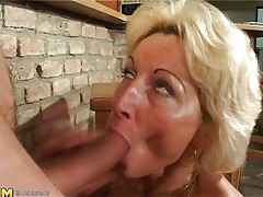 Stefana is a blonde older bitch that loves to sucks ramrods each time this babe can. Now this babe has in her face hole a long dong that this babe sucks it very nice whilst this babe sitting on her knees. The younger guy is willing now to penetrate her deep so he begins fucking her pussy from behind making Stefana screaming of pleasure.