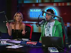 Watch the hot blonde host of the play playboy radio program 'Morning Show' discussing about some important facts of appearance and looks those you'll need to keep u fit and sexy! And to show the practical result she takes off her tops to show u how pretty her body is by obeying those rules herself!