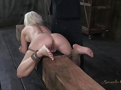 Marvelous bitch Cherry is fastened up on a wooden barn and an executor comes from behind and fucks her sexy ass deep. She being treated like a piece of meat, exactly the way she likes it. Surely that fucking was just for warming up, much greater amount await this cutie. Stay tuned and find out what!