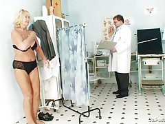 Greta often visits her doctor to check her body. Whilst she reaches there her doctor ordered her to put all her garments off and then this dude starts his pussy scrutiny right after this dude squeezes her nice boobs. U rally needs to see where this doctor ends up his examination.
