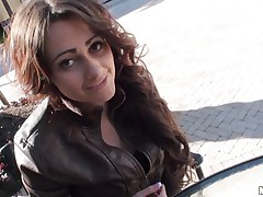 Sexy teen with lengthy curly hair gives blowjob to a random guy met on the street. This man knows how to choose his gals cause this young lady is really a horny naughty hotty on the inside if u know what I mean. Will she get some greater quantity of his hard cock?