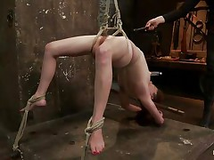 Wee all have a pleasure seeing a cute wench getting what she merits but this one acquires a harsh treatment, her hot oiled body is tied up and she's hanging while her executor uses a vibrator on her pleasant cunt, fingering her muff in the mean time. Her hot tits have suckers on them and her legs are widen granting full access to her cunt. What will happen to her next? Wish to see?