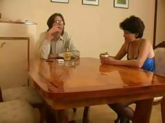 Mature Russian wife gets caught cheating with her youthful lover