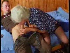 Breasty German Granny bonks youthful Fellow