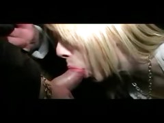 Cute British blond goes dogging for sex