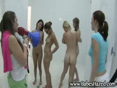 Lesbian shower for college angels