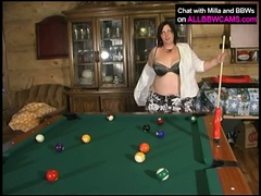 Bbw milla monroe plays on pool table