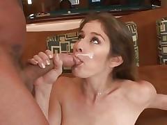 Sexual babe Felony loves guzzling down warm cum