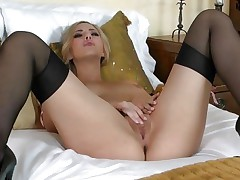 Pretty Sophia Knight torments her juicy soaked bawdy cleft