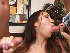 Keeani Lei is double screwed by a couple of cocks