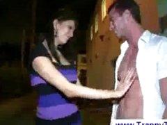 Ladyboy suprises straight man with boner