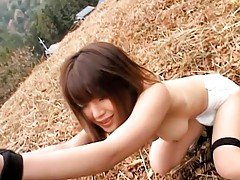 Enchanting youthful asian sucks big dick