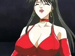 Large titted female-dominator fucks and sucks stud