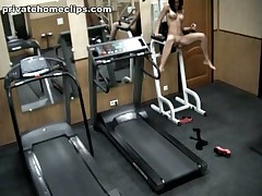Just look at this vicious brunette hair babe going crazy in the gym when alone! 1st she's exercising in no thing but nylon pantyhose and then she's stripping it likewise and widening her nifty legs wide as if gagging for unfathomable penetrations!