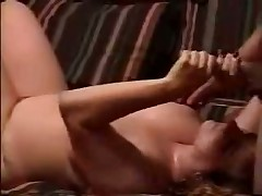 Watch sexual homemade video with obese doll jerking off hard 10-Pounder and petting balls of her husband until this guy shoots his hot cum on her huge boobs.