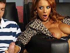 Janet walks into a XXX theatre for some intimate time, but her plans are foiled when Jordan walks in. That Babe is shy at first and has trouble masturbating with Jordan down the aisle doing the same thing, so this honey gives a decision to fuck him instead.