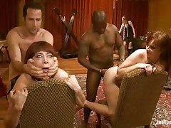 These whores are enjoying a hard unfathomable fuck, see 'em as the lads are fucking their butts from behind and then spank them. It's a enjoyment to look at 'em being dominated and then how they take matters in their own hands, wonder if that ebony doxy is going to receive a unfathomable fingering?