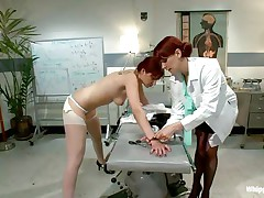 This is the kind of doc that you will barely await to see. She's a devilish redhead with a excitement to dominated, especially other sluts! Her patient came for a routine check and discovered herself undressed and wazoo slapped until that sexy wazoo turned red. Now that the doc slapped her she licks her booty with passion.