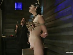 The good looking brunette milf Coral Aorta is having the fun of a lifetime with her male friend. She has him punish her like this babe wants. That guy 1st attaches a bunch of clothespins to her tits, then this guy uses a big vibrator to enhance the pleasure. She starts groaning as this babe needs to have his cock inside her.