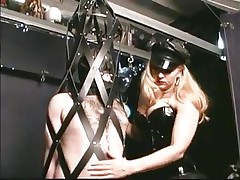 As soon as this chab steps into the dungeon the dude barely waits for his mistress. Many guys love being dominated by sexy sluts and some travel a long way to acquire such a treatment. In the real world we put value on honor and pride, but those guys give it all away for some good butt spanking and penis torture, check it out