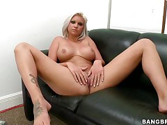 Slut with short blonde hair, Deadra Dee, is showing her big titties and widening her legs as this babe spreads her cookie for you too. Watch her wet cookie as this babe is masturbating for pleasure. On a couch, expecting for a 10-Pounder with her nude body this bitch is willing to acquire screwed hard. And as a rod came, this babe started oral-stimulation instantly!