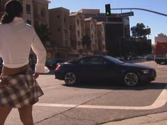 Street hooker engulfing ramrod in the car
