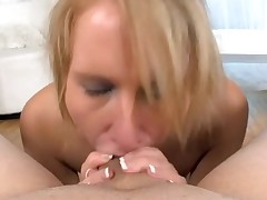 Sexy sweetheart is charming stud with wicked oral job