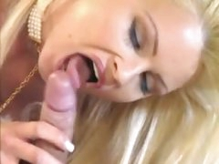Classy hot blond is into erotic sex