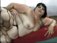 Chunky fuck in nylons screwed in the booty