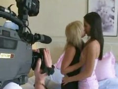 Gorgeous lesbians making sweet love