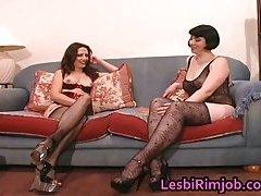 Super slutty lesbian arse licking