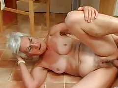 Insatiable Granny Just Loves Penis !