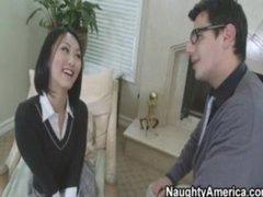 Hawt Oriental School Copulates Her Teacher
