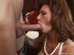 Deauxma is a sexy MILF who loves putting soaked schlong in her mouth