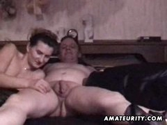 Mature non-professional pair homemade hardcore action