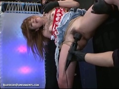 Extraordinary pussy punishment with horny japanese and her hairy pussy