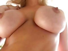 Breasty MILF Julia Ann slides in a big black schlong