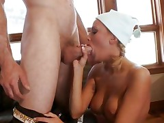 Jessica Nyx shoves a hard wang down her slippery mouth