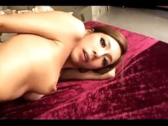Asian Angel Sucking Dicks Screwed By 2 Men On The Bed In The Basement