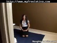 Sexy Lalin girl Screwed Hard In The Washroom latina cumshots latin gulp brazilian mexican spanish