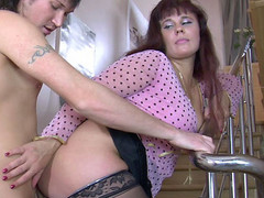 Sex-crazed mamma joins into sexy intercourse with a man just from the shower