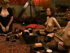 Massive tits redhead girl dominated and fucked in perverted clinic.